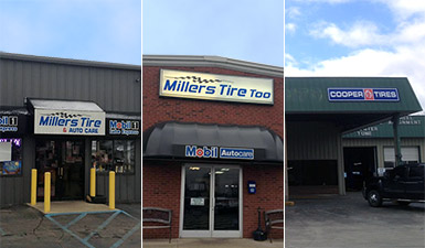 Miller's Tire - 3 locations for your convenience